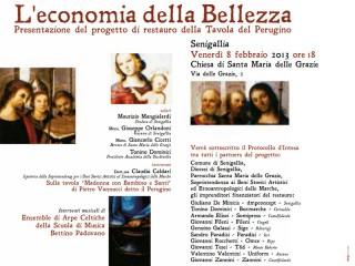 """Locandina del progetto """"L'economia della bellezza"""""""