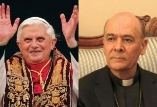 Papa Benedetto XVI e il Vescovo di Senigallia Giuseppe Orlandoni