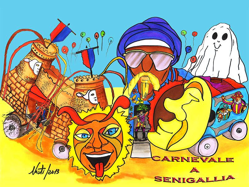 La vignetta di Massimo Nesti per il Carnevale 2013