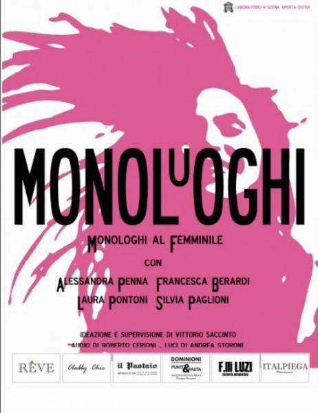 Lo spettacolo MONOLuOGHI