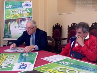Il presidente Aics Marche Giorgio Sartini e quello dell'Atletica Senigallia Osvaldo Perini