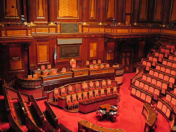 Il Senato della Repubblica, uno dei due rami del Parlamento Italiano