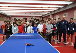 I ragazzi del tennistavolo senigalliese al centro olimpico