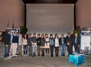 Partecipanti, organizzatore e giuria di FameLab 2013 ad Ancona