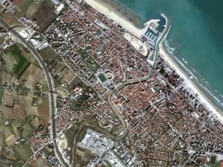 La città di Senigallia vista dal satellite