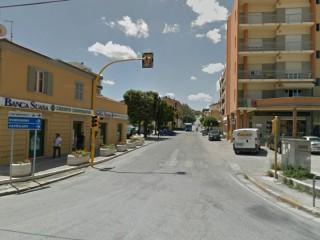 Incrocio a Marzocca di Senigallia tra via G. Garibaldi e la Statale Adriatica SS16