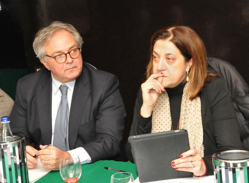I presidenti Gian Mario Spacca (Marche) e Catiuscia Marini (Umbria) parlano della Ancona-Perugia