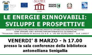 Incontro sulle energie rinnovabili organizzato dalla Cooperativa Agorà (8 marzo 2013)