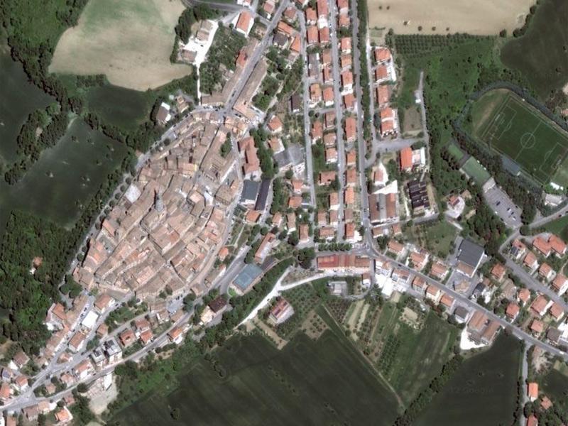 Ostra Vetere vista dal satellite