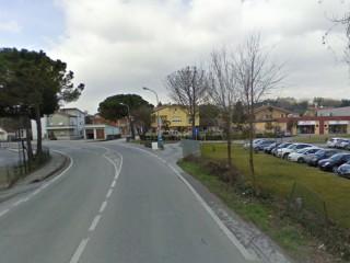 La strada Arceviese a Pianello: zona dell'incidente