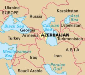Azerbaijan, cartina geografica