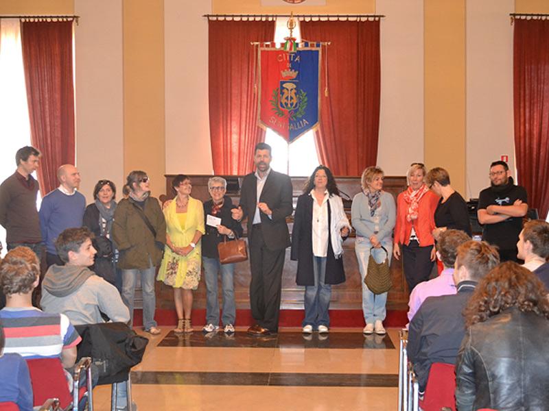 I partecipanti al progetto Comenius ricevuti dal sindaco Mangialardi