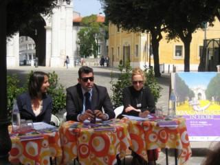 L'assessore Curzi, il sindaco Mangialardi e Michela Fioretti (Direttrice Expo Marche)