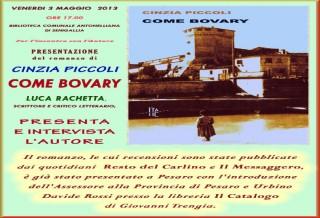 """La copertina del volume di Cinzia Piccoli, """"Bovary"""""""