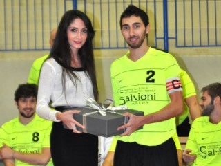 Valerio Baldarelli insieme alla 'madrina' del team Genny Manieri