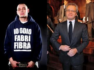 Fabri Fibra ed Enrico Mentana