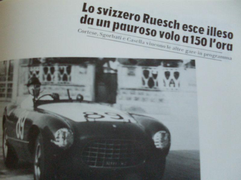 Hans Ruesch in gara a Senigallia nel 1953 con la Ferrari