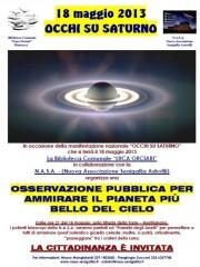 L'osservazione pubblica di Saturno