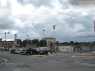 Lo stadio comunale Goffredo Bianchelli di Senigallia e il parcheggio antistante