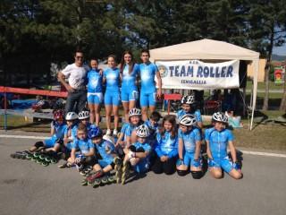 Gli atleti del Team Roller Senigallia
