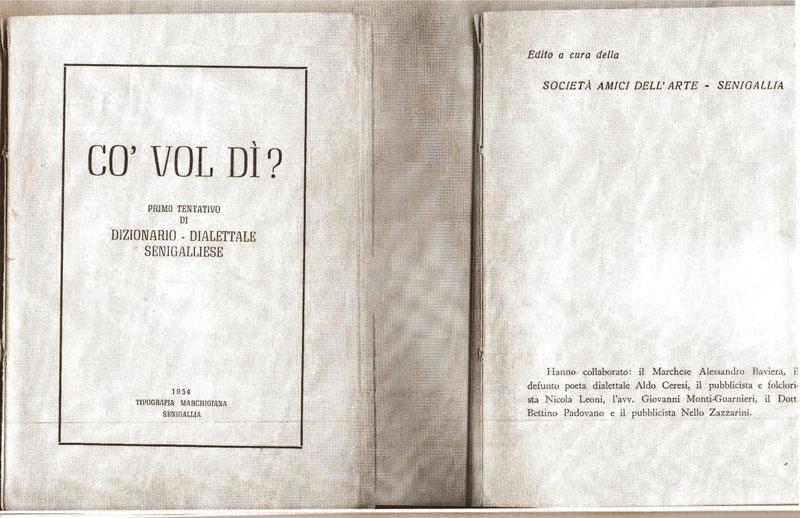 """Gent'd'S'nigaja - il volume """"Co' Vol dì?"""""""