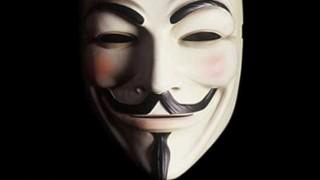 La maschera simbolo degli 'Anonymous'