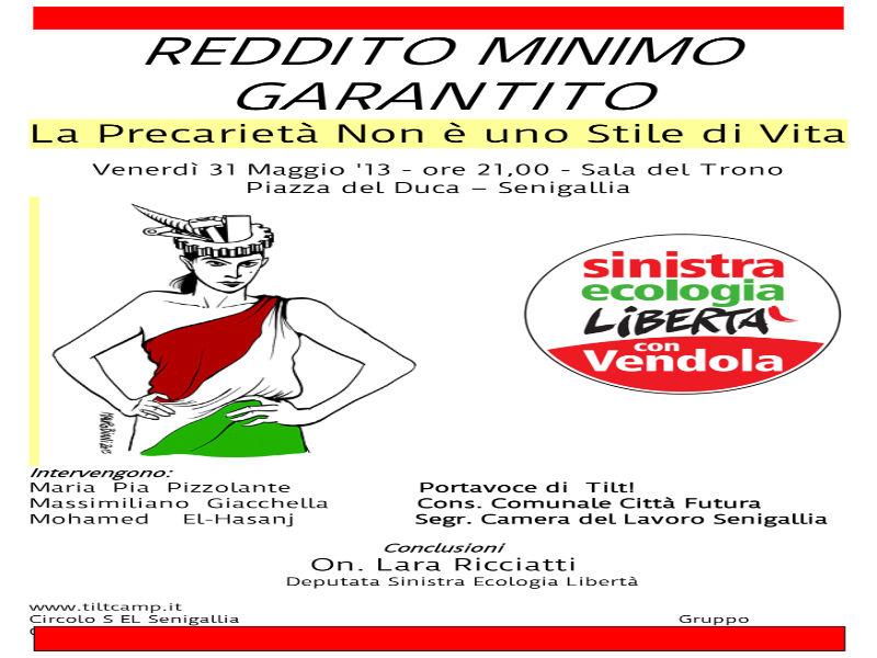 Sel Senigallia per il reddito minimo garantito