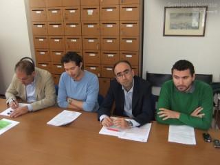 Il PdL propone una mozione sui canoni di locazione. Da sx: Mazzarini, Rimini, Cameruccio, Cicconi Massi