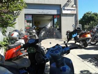 Officina Moto Bramucci alla Cesanella di Senigallia