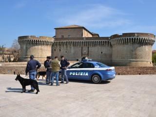 Senigallia, controlli della Polizia alla Rocca roveresca