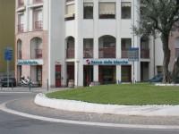 BdM, la filiale della Banca delle Marche di via Cellini/via Rossini, a Senigallia
