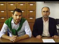 I consiglieri Alessandro Cicconi Massi a sinistra e Gabriele Cameruccio a destra