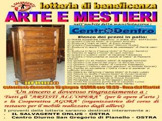 """Lotteria """"Arte e Mestieri"""" ad Ostra"""