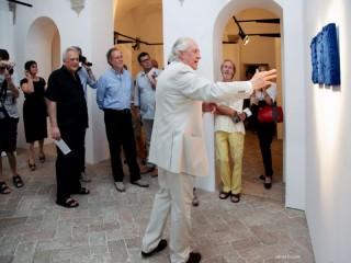 Inaugurazione mostra di Pino Pinelli alla Rocca Roveresca
