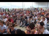 Il pubblico del CaterRaduno 2013 in diretta dalla spiaggia di Senigallia