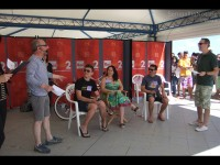 I concorrenti del quiz on the beach al CaterRaduno 2013