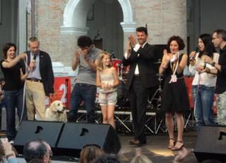 Il sindaco Mangialardi e lo staff di Radio Caterpillar inaugurano l'edizione 2013