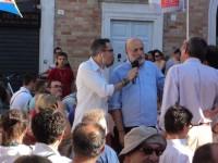 Filippo Solibello intervista Carlo petrini prima dell'incontro