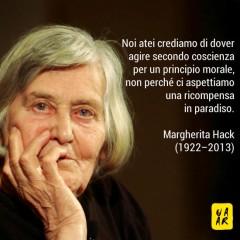 Manifesto in omaggio a Margherita Hack (1922 - 2013)