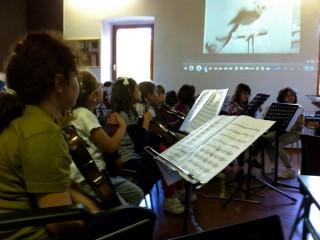 La scuola di musica Bettino Padovano di Senigallia: allievi alla lezione