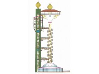 Il progetto di sviluppo della ciminiera dell'ex Italcementi, ideato dall'ing. Paolo Landi