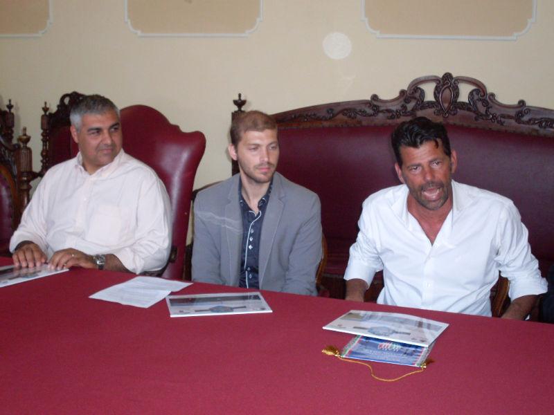 1° Città di Senigallia-Trofeo Prometeo, presentazione con l'assessore Campanile, l'organizzatore Magnarelli e il sindaco Mangialardi