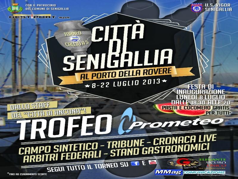 """""""1° Città di Senigallia - Trofeo Prometeo"""", locandina evento"""