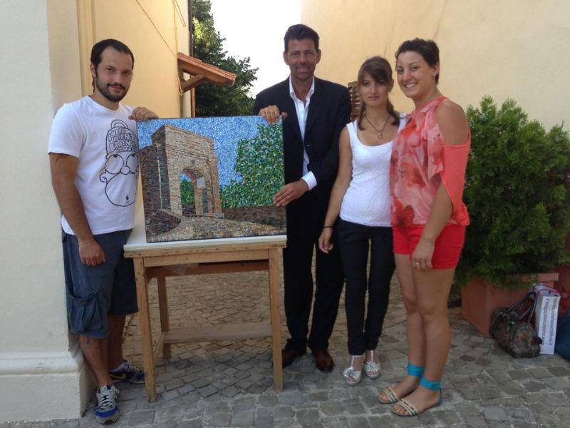 Il mosaico della scuola di Spilimbergo per l'edizione 2013 della fiera dell'artigianato artistico regionale