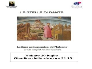 """""""Le stelle di Dante"""" ad Ostra, manifesto"""