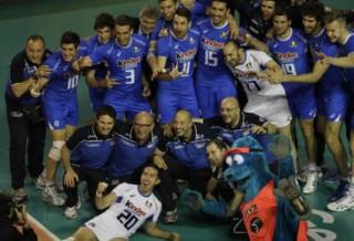 L'Italvolley di bronzo contro la Bulgaria (foto Ansa.it)