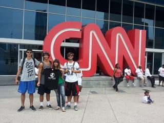 Gent'd'S'nigaja alla sede della CNN ad Atlanta