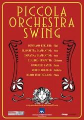 Locandina concerto della Piccola Orchestra Swing