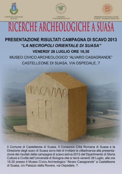 Conferenza di presentazione degli scavi a Suasa il 26 luglio