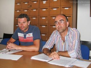 Sanità e tares: il PPE-PdL attacca la maggioranza (da sx Alessandro Cicconi Massi e Gabriele Cameruccio)